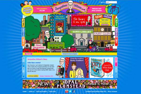 Jacqueline Wilson site home page