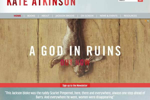 Kate Atkinson website header