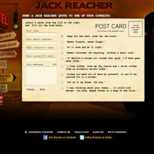 Original Reacher postcard screen