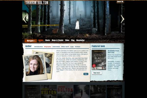 Sharon Bolton site home page