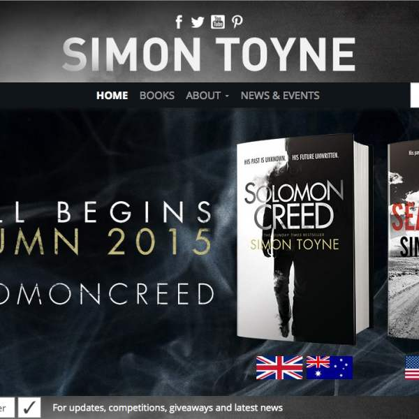 Simon Toyne website header