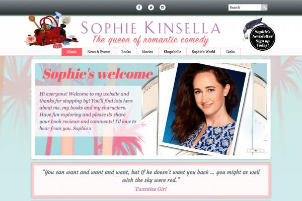 Sophie Kinsella's new site