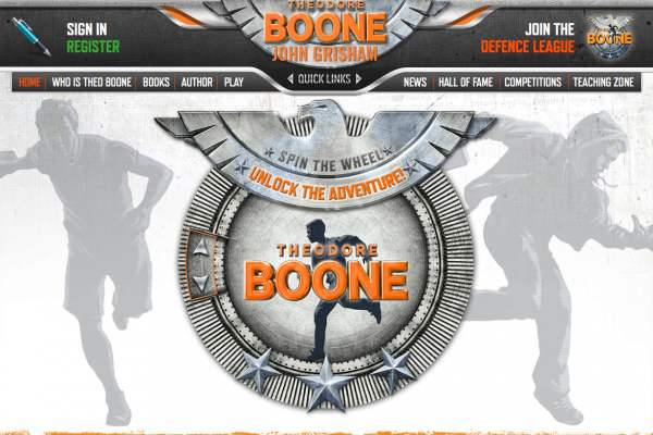 Theodore Boone website header